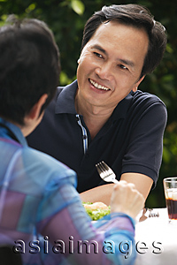 Asia Images Group - Mature couple at the restaurant