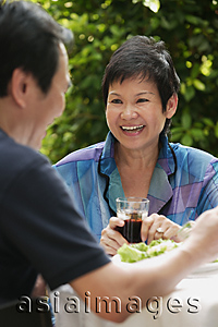 Asia Images Group - Mature couple dining at the restaurant