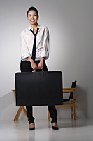 Young woman with portfolio - Asia Images Group